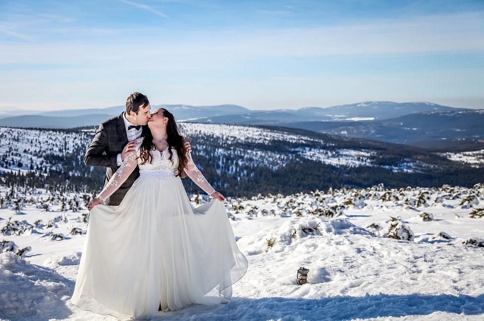 Sesja zimowa Szrenica – Ania i Damian